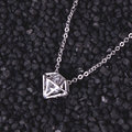 2016new High quality silver jewellery women's trendy imitation diamond Pendant necklace & Birthday gifts for  girlfriend