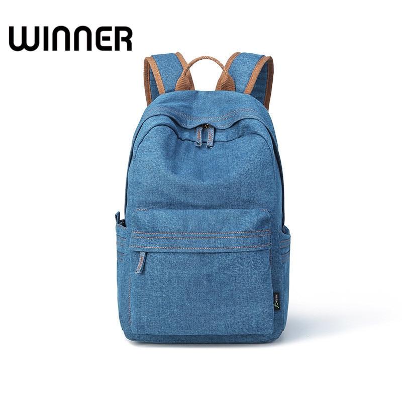 Fashion Washable Women Denim Backpack Bag Daily Travel School Bags For Teenagers Girls Shoulder ...