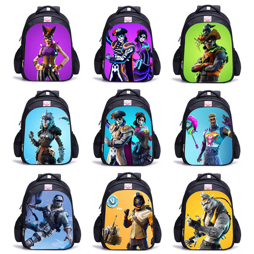 Children Bag Backpack Boy Fortni Backpack 3D Battle Royale Fortnit Game Backpack Cosplay Costume for Boys and Girls Hot Game