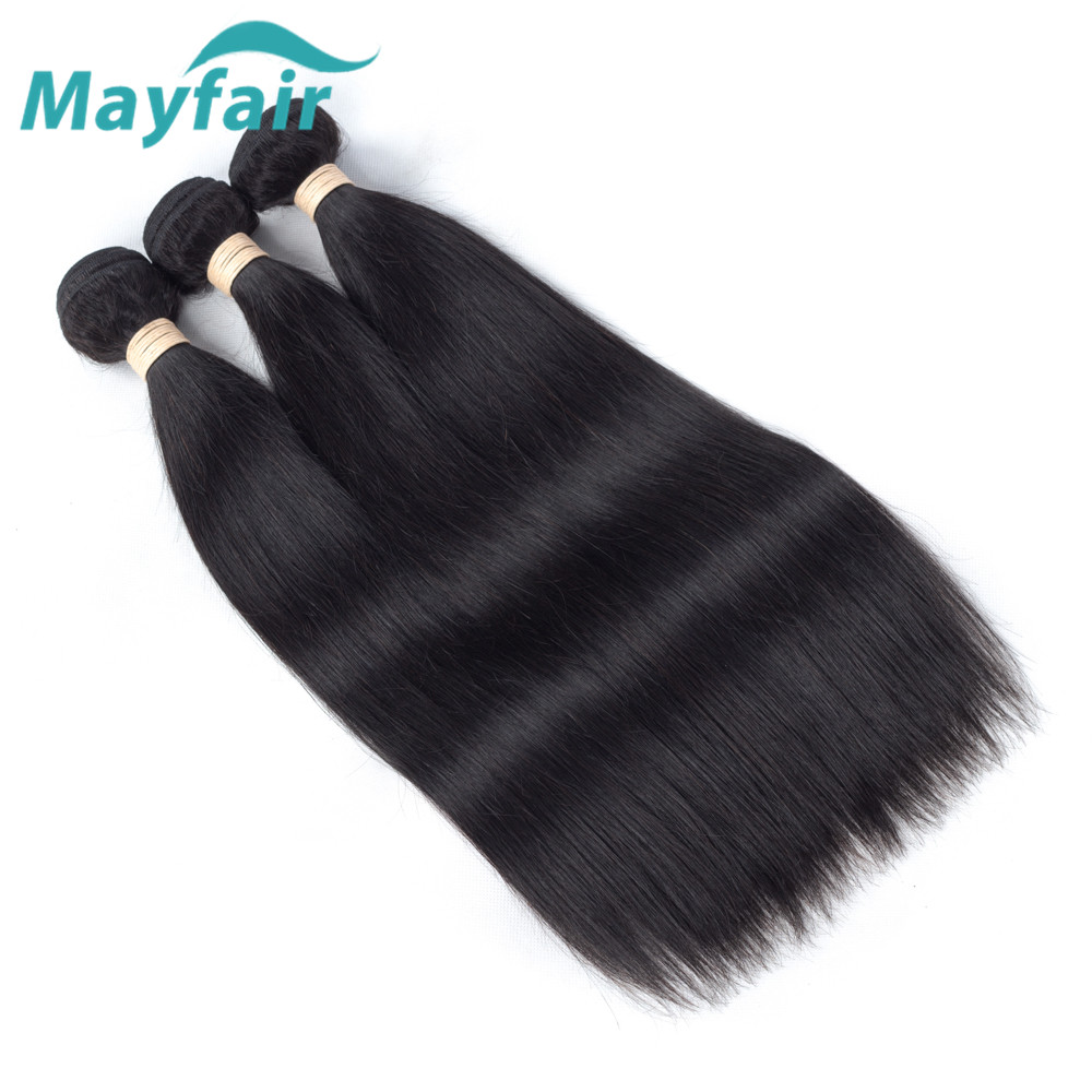 Mayfair Hair Peruvian Straight hair 3 Bundles Straight Human Hair Weave Natural Color Remy Hair Extension