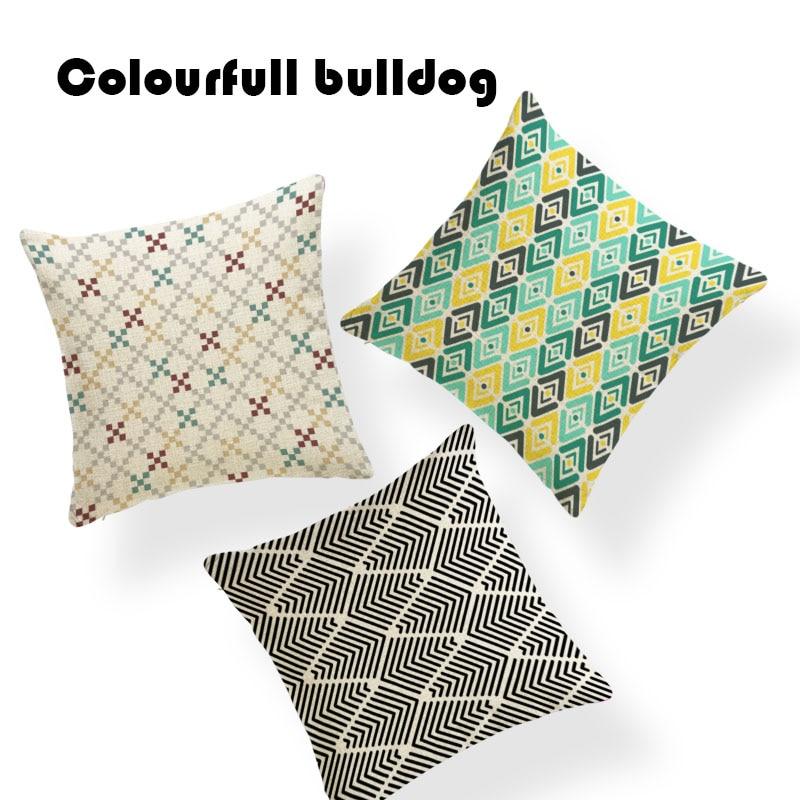 >Checker Zigzag Stripe <font><b>Pillow</b></font> Cushion Cover Diamond Love Cover <font><b>Pillows</b></font> Rock <font><b>Farmhouse</b></font> Kid <font><b>Gifts</b></font> 43*43 cm Square Polyester Blend