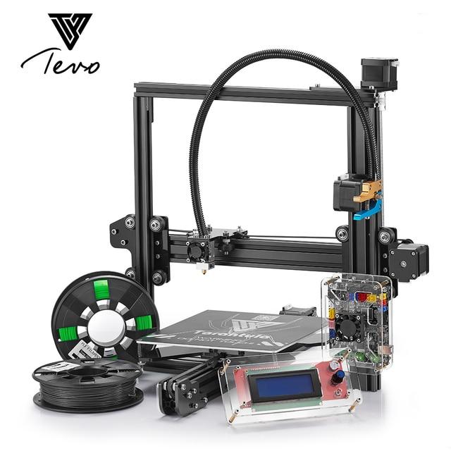 Классический TEVO Тарантул I3 алюминиевого профиля 3D-принтеры комплект 3d печать с 2 рулона нить SD card Titan экструдера, как подарок