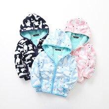 2019 Autumn Winter new printed polar fleece hooded zip jacket.  sports cute tops цена 2017