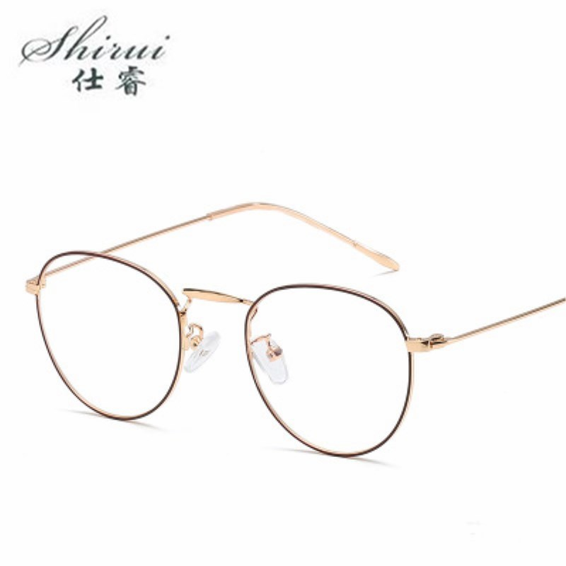 2018 Metal Women Glasses Frame Men Eyeglasses Vintage Round Clear Optical Spectacle Spectacles