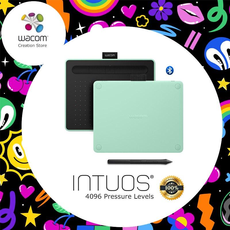 Tablettes de dessin graphique sans fil Wacom Intuos CTL-4100WL tablette numérique 4096 niveaux de pression avec 3 logiciels Bonus + coffret cadeau