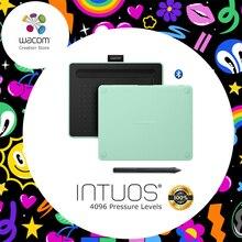 Wacom Intuos CTL-4100WL беспроводной графический рисунок планшеты Цифровой Планшеты 4096 давление уровней с 3 бонус программы для компьютера + подаро