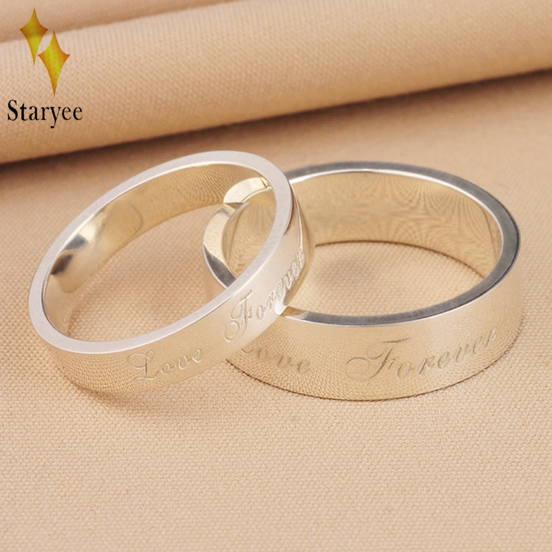 Classic 18K Solid White Gold Love Forever Rings For Women Men Couple Anniversary Engagement Wedding Band Party Fine Jewelry Gift gold and silver forever love steel couple ring for men 8 size
