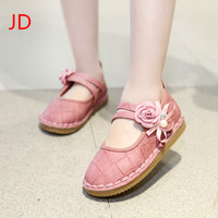 JIANDIAN The New Girl's Shoes Princess Sequined Shoes Cute Single Children Baby Bowknot Doug Shoes