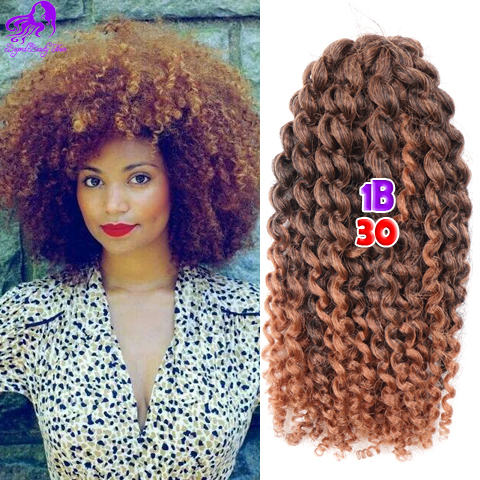 Short Curly Crochet Hair Extensions Synthetic Bohemian