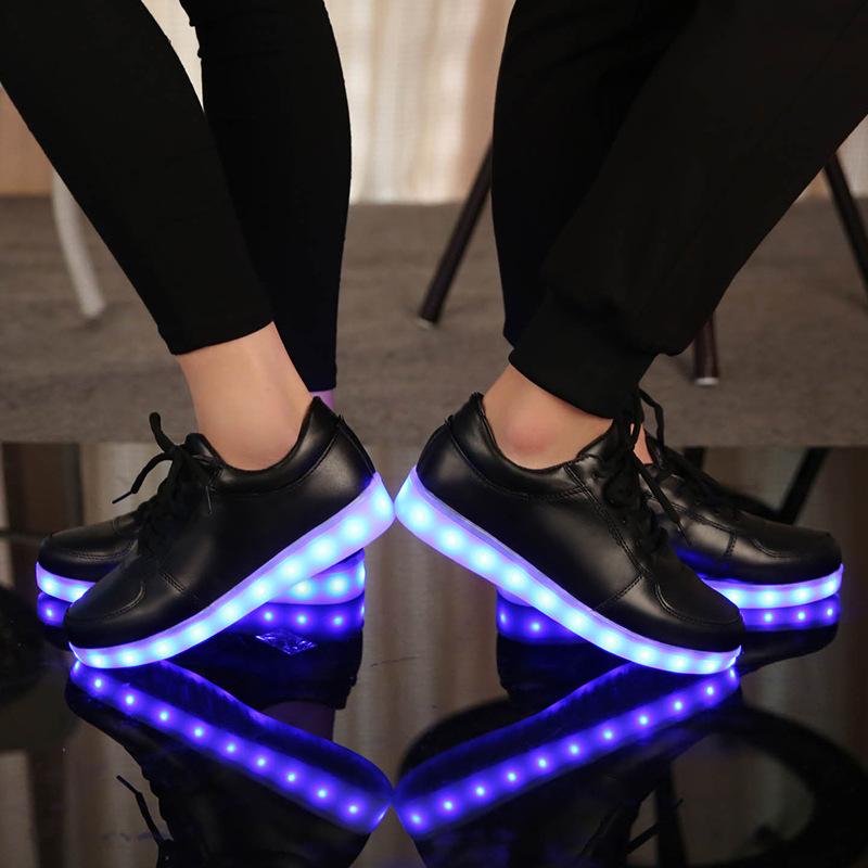 d79d8ed1509 2017 Adult Colorful glowing shoes with lights up led luminous shoes new  simulation sole size 27~46 for adults neon casual shoes