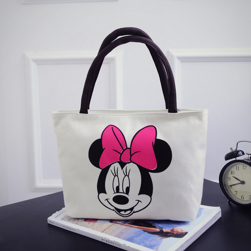c1ebb6463 New Women Cartoon Mickey Handbag Fashion Girls Casual Canvas Shoulder Bag  Tote Big Capacity Hello Kitty Shopping Bag Satchel Bag-in Shoulder Bags  from ...
