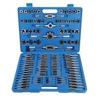 110 Pcs/set Professional Tap Die Set Sheet Metal Hand Tools For Straight Accurate Thread Cutting With Storage Case