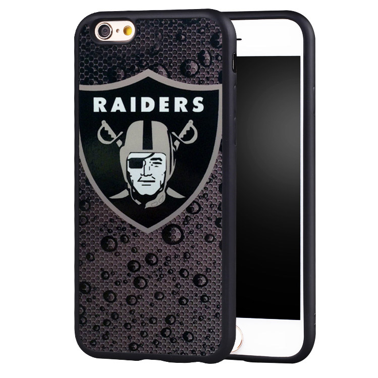 NEW OAKLAND RAIDERS NFL Printed Cell Phone Cases For iPhone 6 6S Plus 7 7 Plus SE 5 5S 5C 4 4S Soft TPU Skin Back Shell Cover