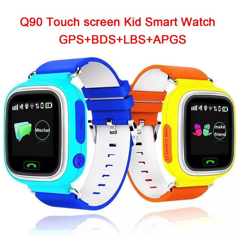 Q90 GPS Touch Screen WIFI Position Smart Watch Children SOS Call Locat