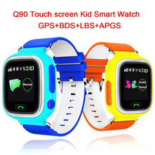 Q90 GPS Écran Tactile WIFI Position Montre Smart Watch Enfants SOS Appel Location Finder Tracker Kid Safe Anti Perdu Moniteur pk Q50 Q80