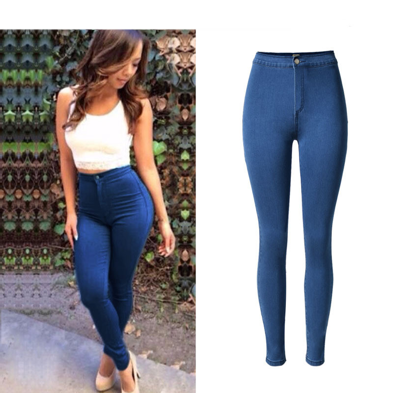 Skinny Jeans Sexy Slim Denim Butt Lift Elastic Stretch Blue Pants Jeans Full-Length Fashion Women Romantic Date High-Waist Jeans top brand high quality genuine leather casual men shoes cow suede comfortable loafers soft breathable shoes men flats warm