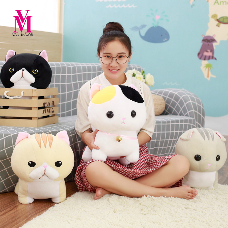 1pc 30cm Super Cute Munchkin Cat Plush Toy Kawaii Staffed Animal Toy Doll Kids Love Toy  ...