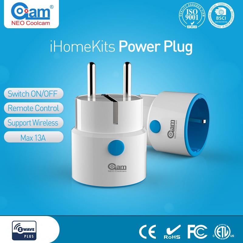 NEO Coolcam Z-WAVE PLUS NAS-WR01ZE UE Smart Plug Power Socket Domotique Système D'alarme Maison Z Vague 868.4 MHz Vidéo fréquence