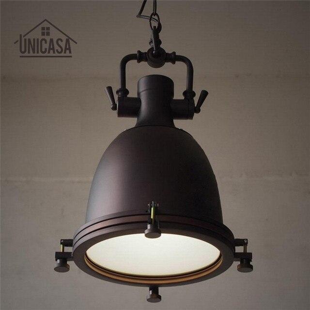 Hierro forjado Lámparas colgantes vintage Iluminación industrial bar ...