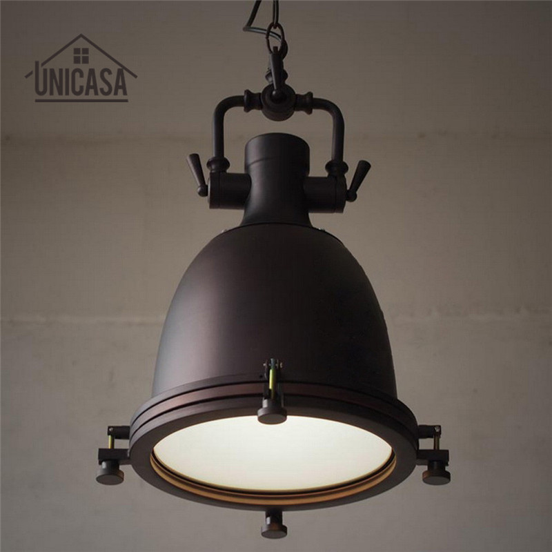 где купить Wrought Iron Pendant Lights Vintage Industrial Lighting Bar Hotel Kitchen Island Black LED Light Antique Pendant Ceiling Lamp по лучшей цене