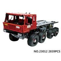 Техников technics 2,4 ГГц дистанционного управления бортовой прицеп Tatra 813 MOC building block модель грузовика кирпич rc игрушка со светом