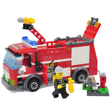8054 Kazi Fogo Luta Série Fire Engine Modelo Building Block Define 206 + pcs Educacional DIY Construção de Tijolos brinquedos