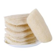 3pcs Natural Loofah dishwashing Cloth Kitchen Decontamination Non-stick Oil Brush pot Double-sided Cleaning Microfibre Sponge