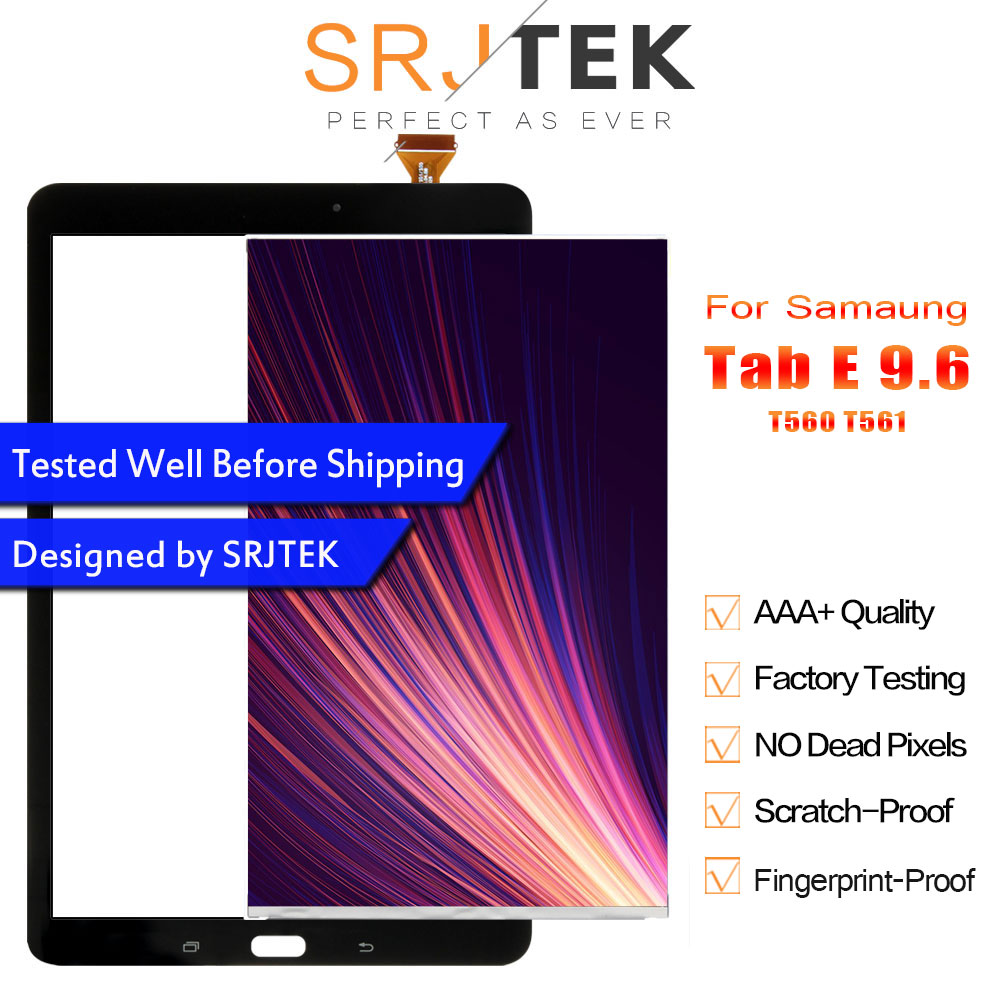 displej t560 - Srjtek T560 LCD Touch Panel For Samsung Galaxy Tab E SM-T560 T560 T561 LCD Display With Touch Screen Panel Digitizer Assembly