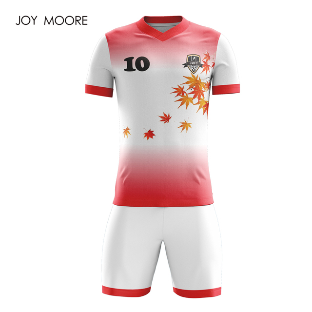 1af298c0b professional design Sportswear Adult Football Set Custom Soccer Jerseys red  and white color