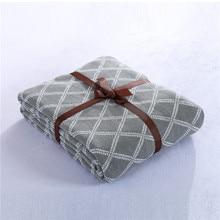 Cozzy 130×160 см 150×200 см Хлопка Связанный Бросить Одеяло Черный Белый Ромб (Алмаз) Дома Диван-кровать Диван Кондиционер Палантин