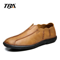 TBA Hot Sale Spring Autumn Brand Fashion Men S Genuine Leather Shoes Man England Retro Casual