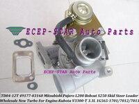 TD04 12T 49177 03140 1G565 17013 Turbo Turbocharger For Mitsubishi Pajero L200 Bobcat S250 Skid Steer