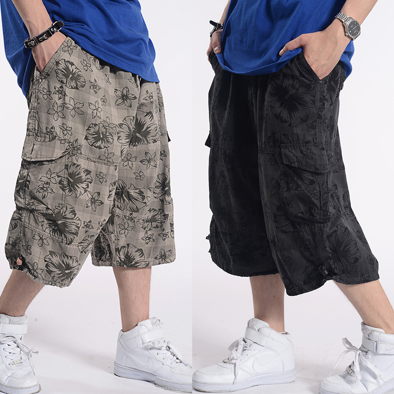 Loose Baggy Shorts Men Casual Straight Cargo Shorts Beach Shorts Man Clothing Plus Size Shorts