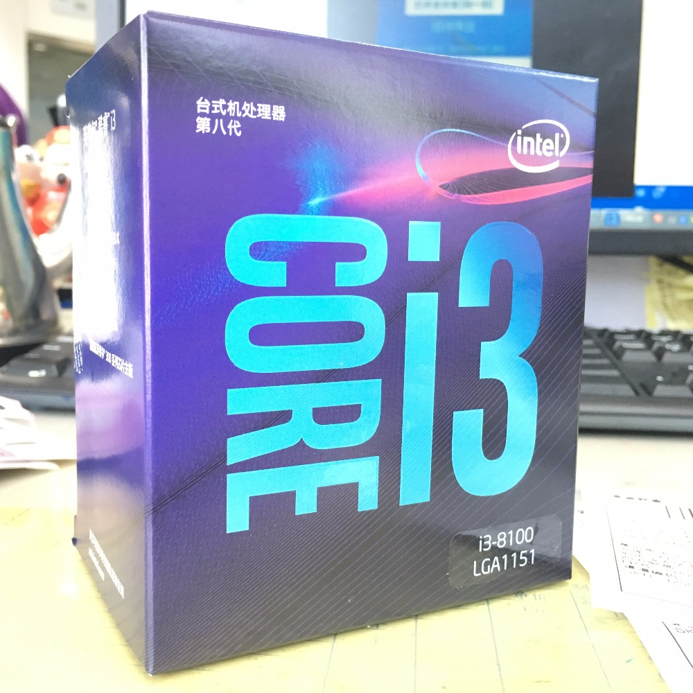 Intel Core i3 8 series PC Computer Desktop Processor I3 8100 I3 8100 Boxed Quad Core CPU LGA1151 Dual Core