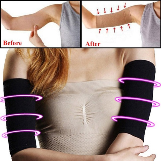 1 Pair Thin Arm Wrist Shaper Shapewear Strap Belt Slimmer Muscle Slim Arm Calorie Off Burning Fat Cellulite Buster Burner Z4