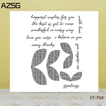 AZSG Sincere Blessings Bowknot Clear Stamps/Seals For DIY Scrapbooking/Card Making/Album Decorative Silicone Stamp Crafts
