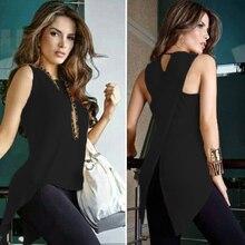 Womens Tops and Blouses Sleeveless Feminine Blouse Shirt