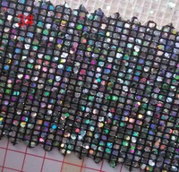 synthetic PVC Small square glitter fabrics leather material 91CM*137CM per yard