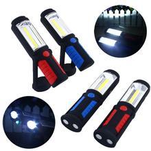 Venta caliente de La MAZORCA LED Linterna Magnética Soporte de Trabajo Gancho Giratorio Rotación de Luz de La Lámpara Antorcha Linternas Lanterna Lampe Torche