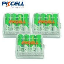 12 X PKCELL Bateria AA Ni-MH 1.2V 2200mAh Low-Self Discharge AA Rechargeable Battery Batteries With 3Pcs Battery Hold Case Box(China)