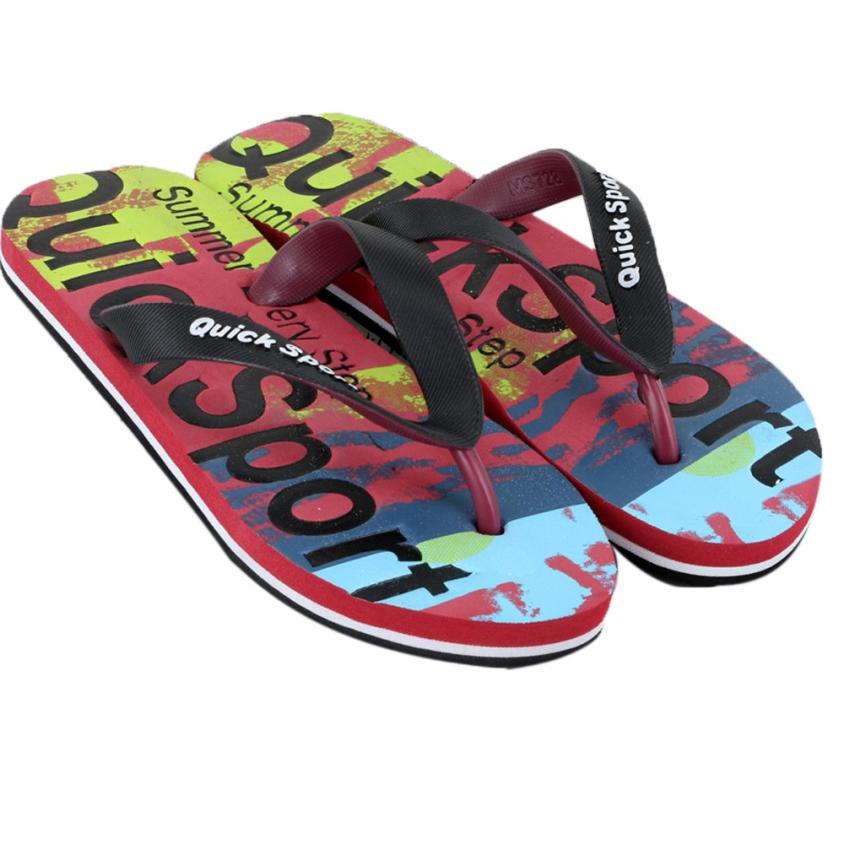 Flat Slippers Shoes Flip-Flops EVA Home-Sandals Male Big-Size Casual Beach Letters  title=