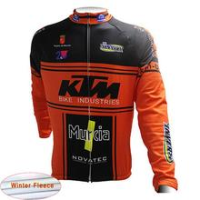 2018 New Ktm Cycling Jersey  Men Winter Warm Wool Long sleeve Ropa Ciclismo MTB maillot Bike Clothing Men's Mountain Bike A19