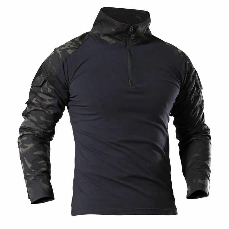 SJ-MAURIE 屋外戦闘 Tシャツ男性長袖エアガンペイントボール戦術的な軍事陸軍シャツ制服ハイキング狩猟シャツ