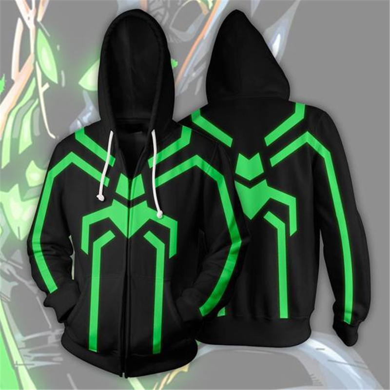 Scarlet Spider Sweatshirts Cosplay man and lady Costume Autumn Spiderman 3D Printing fashion zipper Jacket Hooded sweater