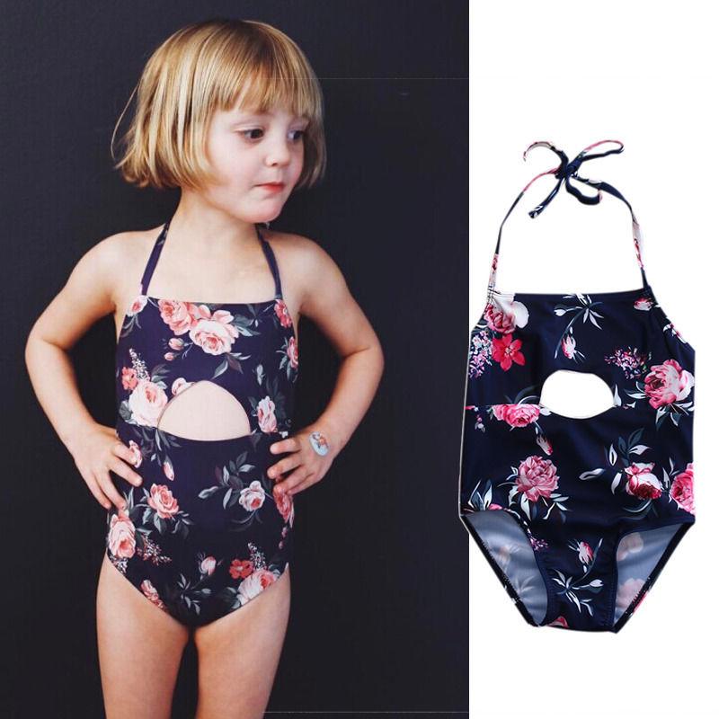 Kids bikini 2017 girls swimwear bathing sets kid swimming ...