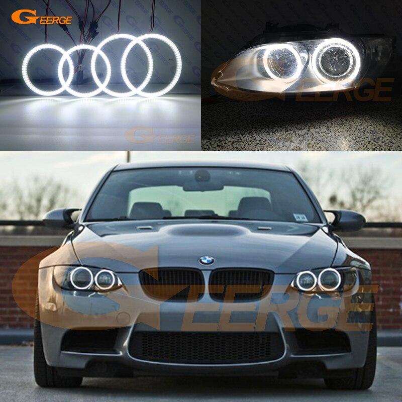 Для BMW 3 серии E90 E92 E93 M3 2007-2013 купе Кабриолет отличное Ультра яркое освещение smd led Ангельские глазки комплект DRL