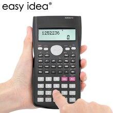 EASYIDEA Científica 240 Multi-función de Calculadora de 12 Dígitos Calculadora Estudiante Calculadora Cientifica 2 Línea De la Pantalla LCD