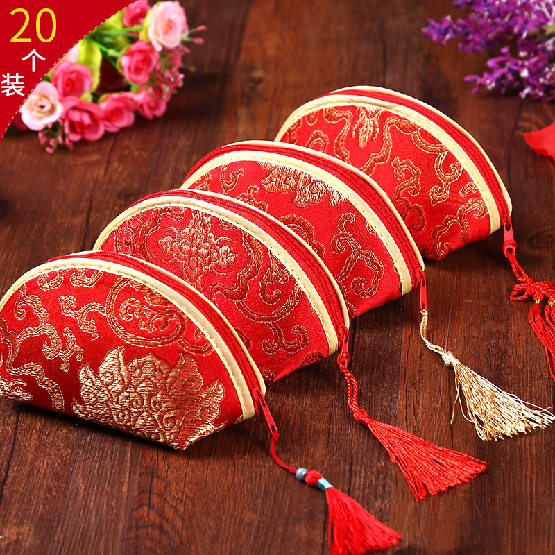 Asian Wedding Gift Baskets: 20pcs Wedding Gifts For Guests Red Package Candy Chinese