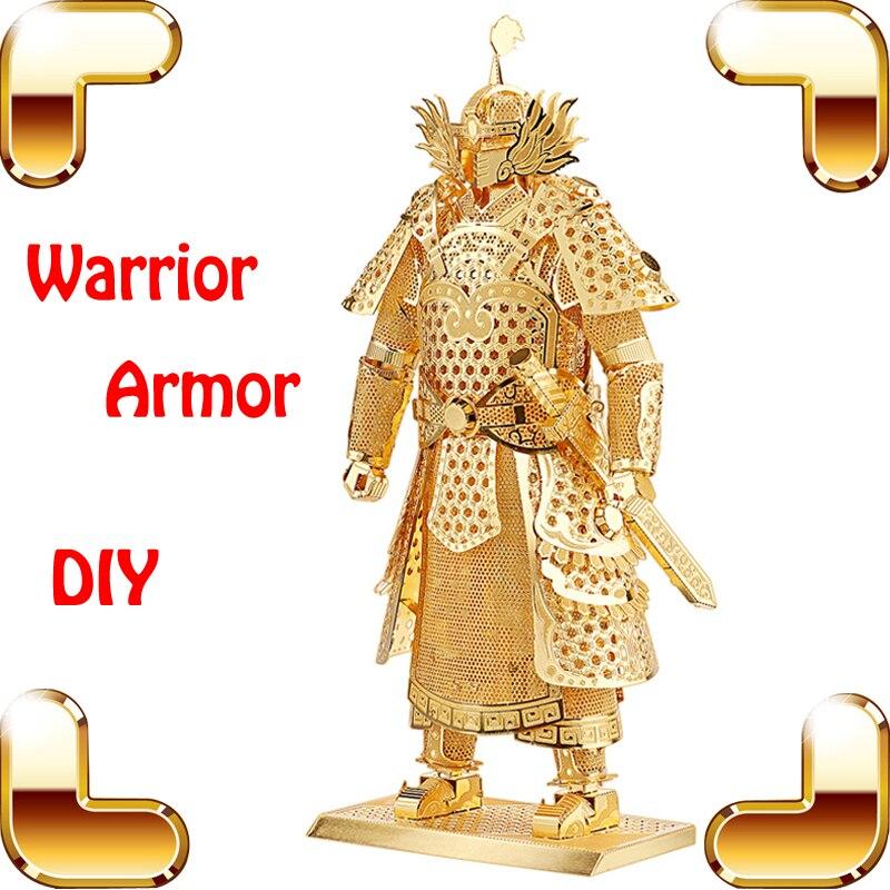 Christmas Gift Warrior Armor 3D Metal Model General Battle Design House Collection Decoration DIY Luxury Alloy Built Toys