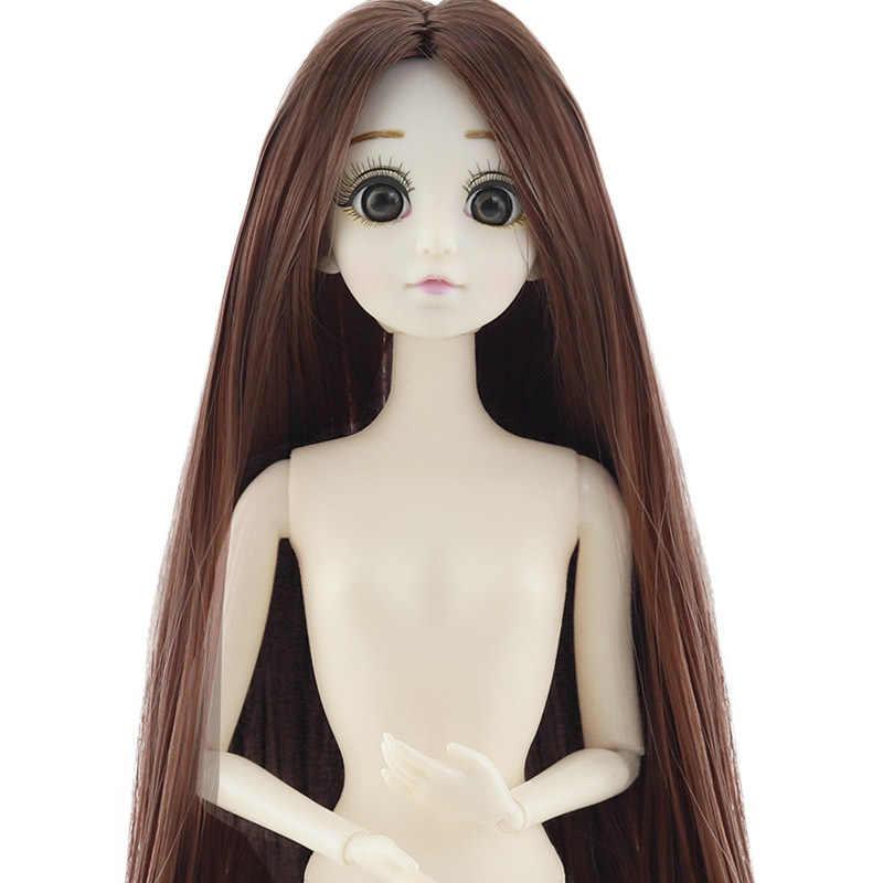 Новинка 1/6 BJD куклы красный/серый/синий/фиолетовый/черный волосы прекрасные большие 3D глаза куклы 20 см подвижные шарниры тела